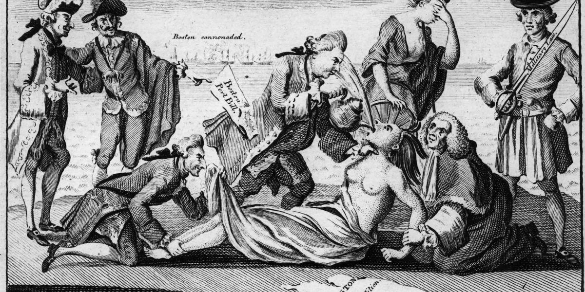 Britain passes the Coercive Acts; they should be called the Intolerable Acts