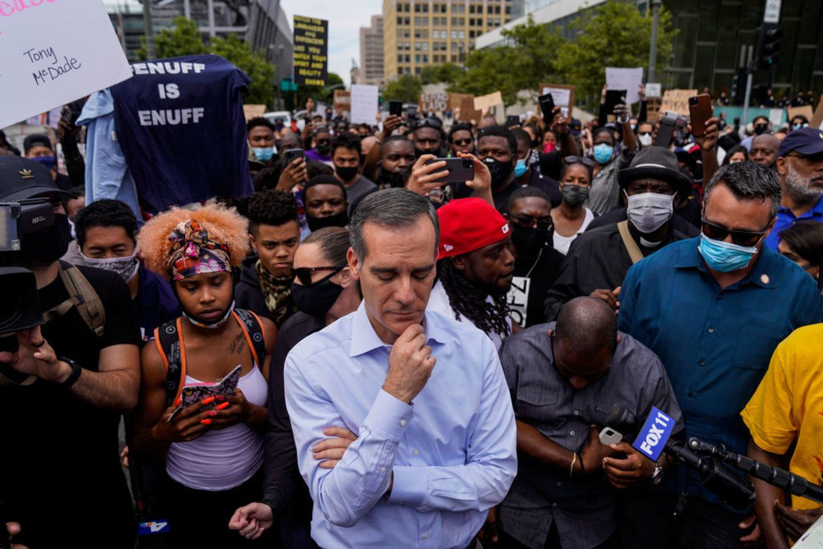 Los Angeles Mayor Eric Garcetti admits protests spreading COVID-19; gets ripped for double standard
