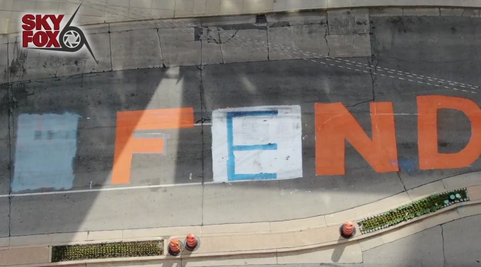 Pro-police activists change just one letter in 'Defund the Police' mural to completely change meaning