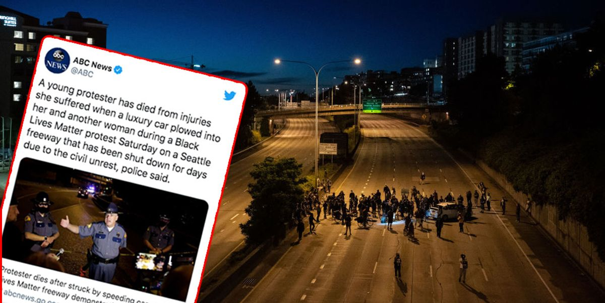 ABC claims 'luxury car' responsible for killing protester on highway, excludes fact that the driver was black