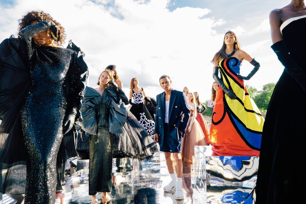 Inside Balmain's Vibrant Couture Boat Party in Paris