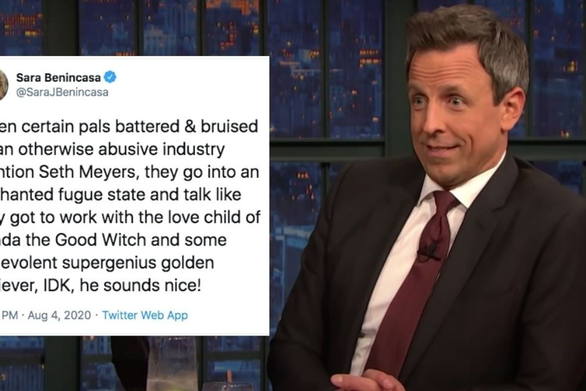 People are gushing over Seth Meyers being an extraordinarily good guy