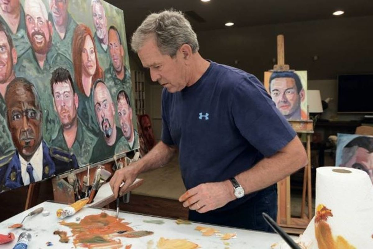 Former President George W. Bush pays tribute to immigrants with a book of moving paintings