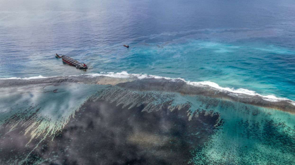 Mauritius Rushes to Contain Oil Spill Before Ship Breaks Apart