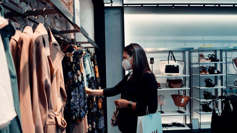shopping, mask