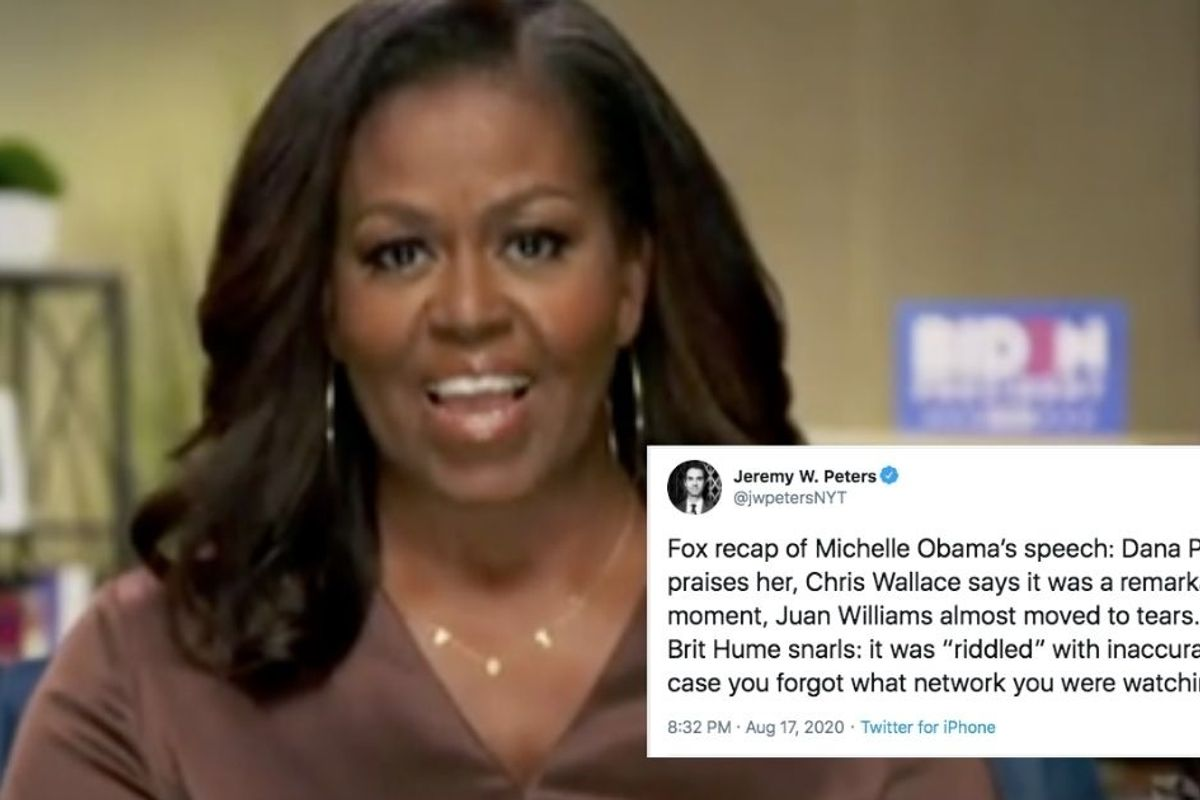 Widespread praise for Michelle Obama's convention speech abounds—even from Fox News