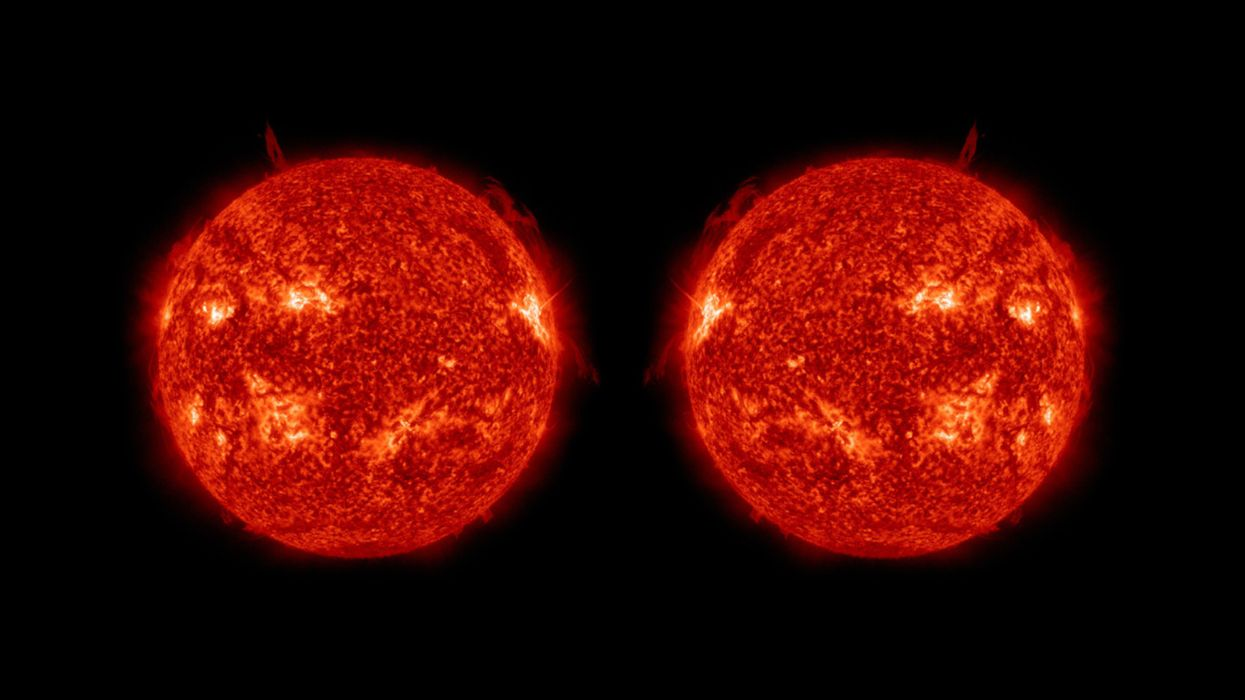 Mirrored image of the sun