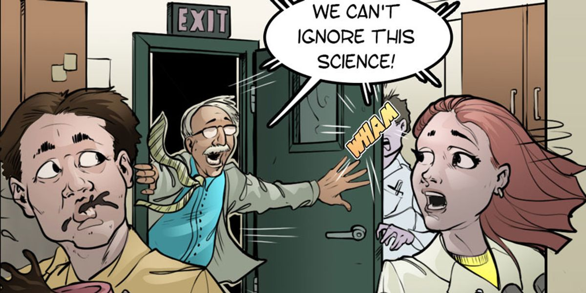 comic warning about ignoring science