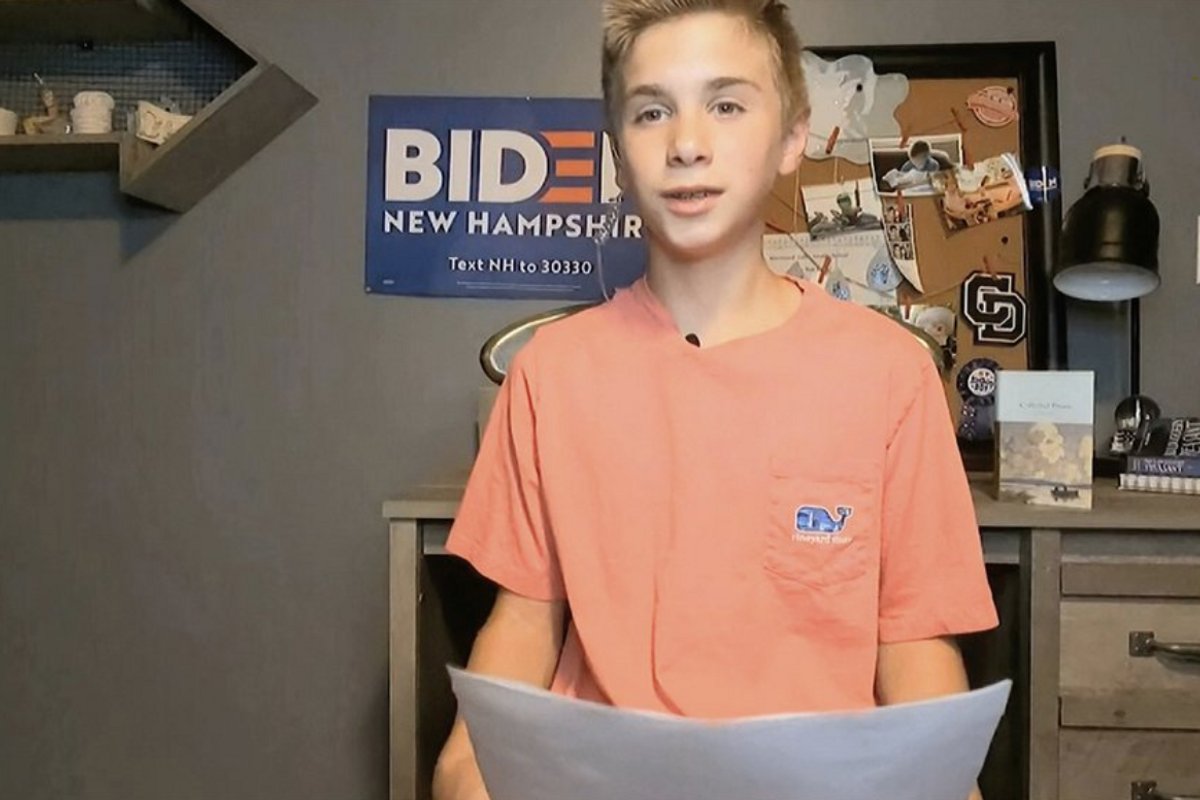 Boy reveals how Joe Biden helped him overcome his stutter in inspiring 90 second speech