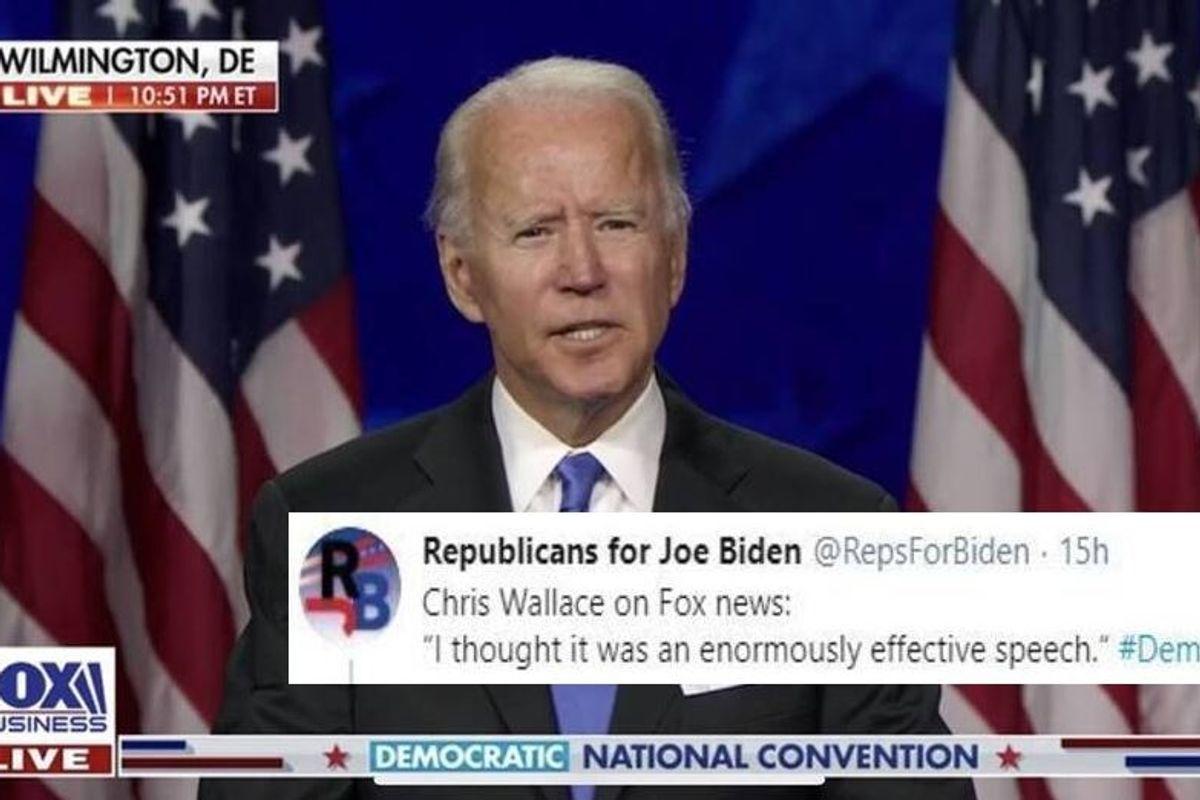 Joe Biden's speech at the DNC was so well received, even Fox News hosts loved it