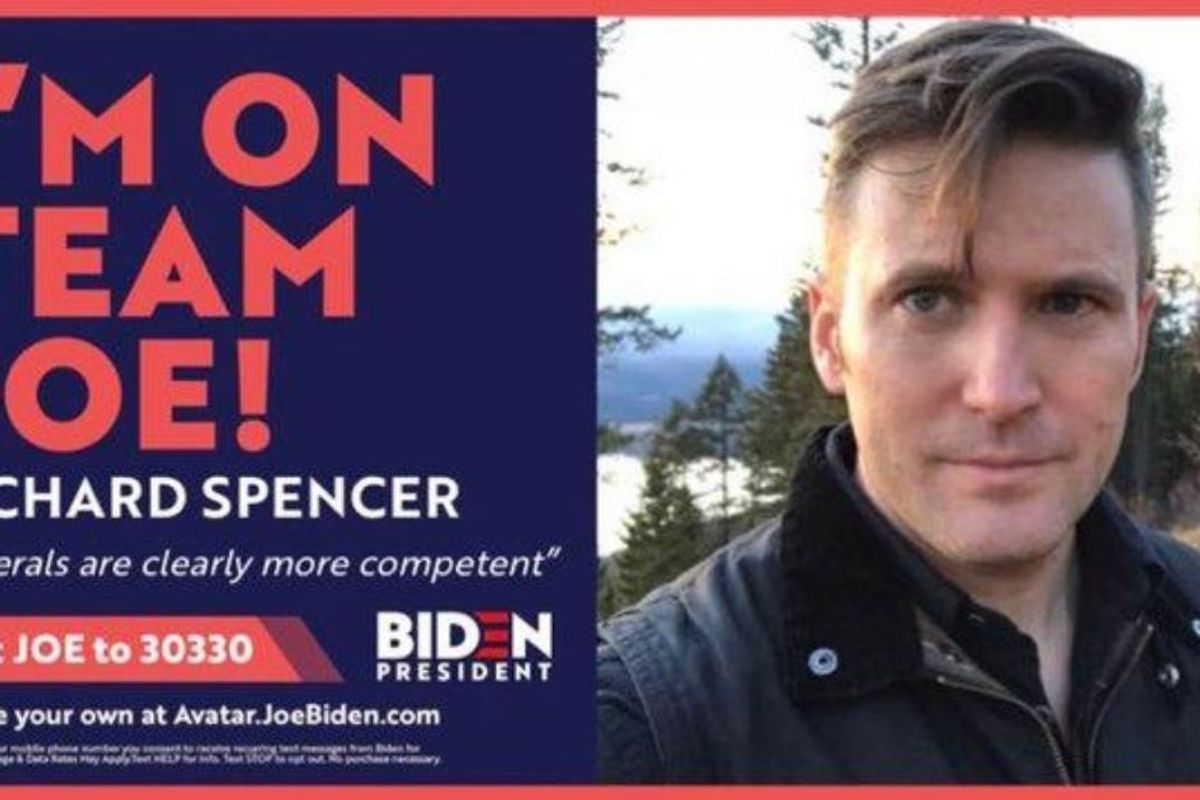 Biden campaign swiftly and soundly rejects neo-Nazi Richard Spencer's 'endorsement'