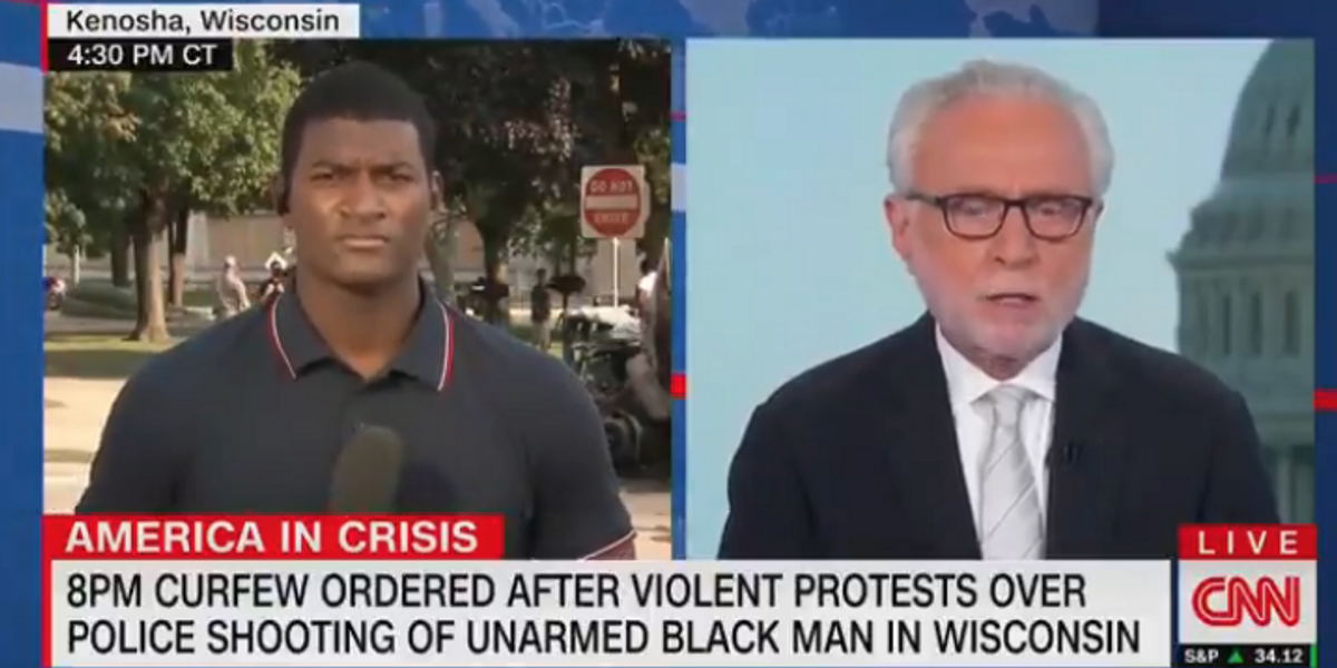 CNN catches itself reporting honestly about the 'violent protests' in Kenosha — quickly removes 'violent' from chyron