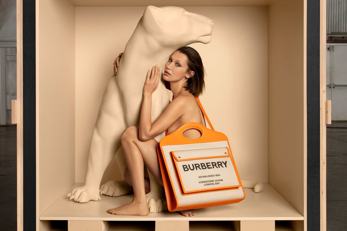 Bella Hadid Is a Sultry Feline in Burberry's Animal-Themed Campaign