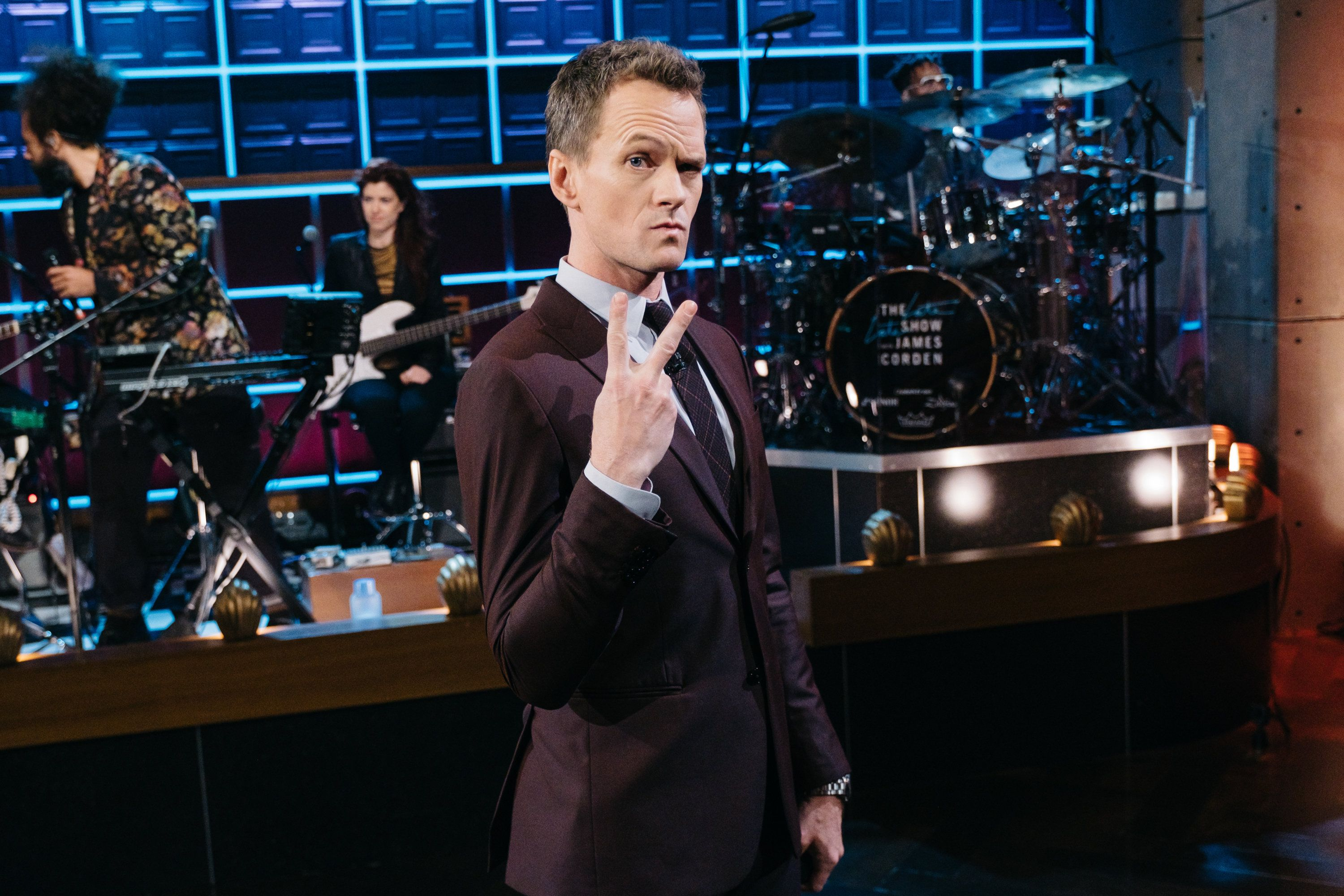 "Neil Patrick Harris who plays Barney on HOW I MET YOUR MOTHER on ""The Late Late Show with James Corden."""