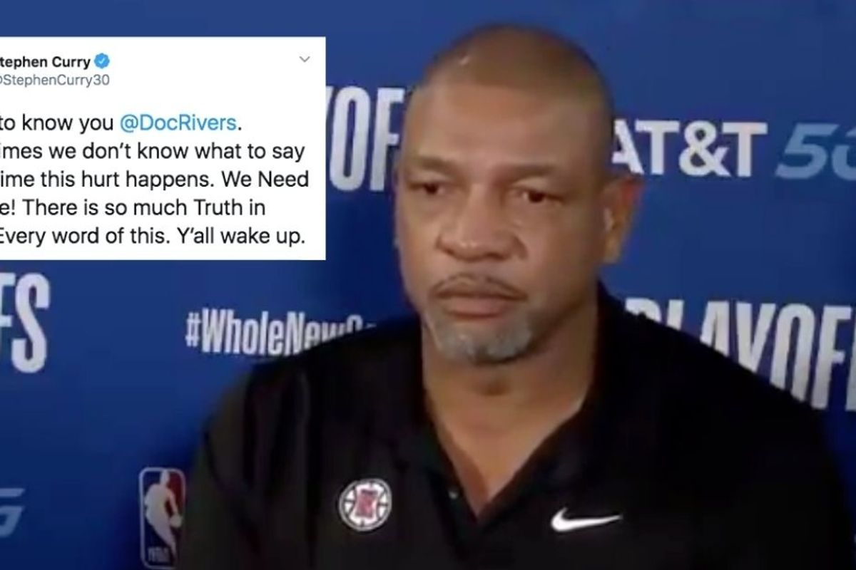 NBA coach Doc Rivers' tearful statement on America's racial injustice resonates widely
