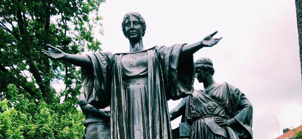 Famous Alma Mater statue at University of Illinois Champaign-Urbana.