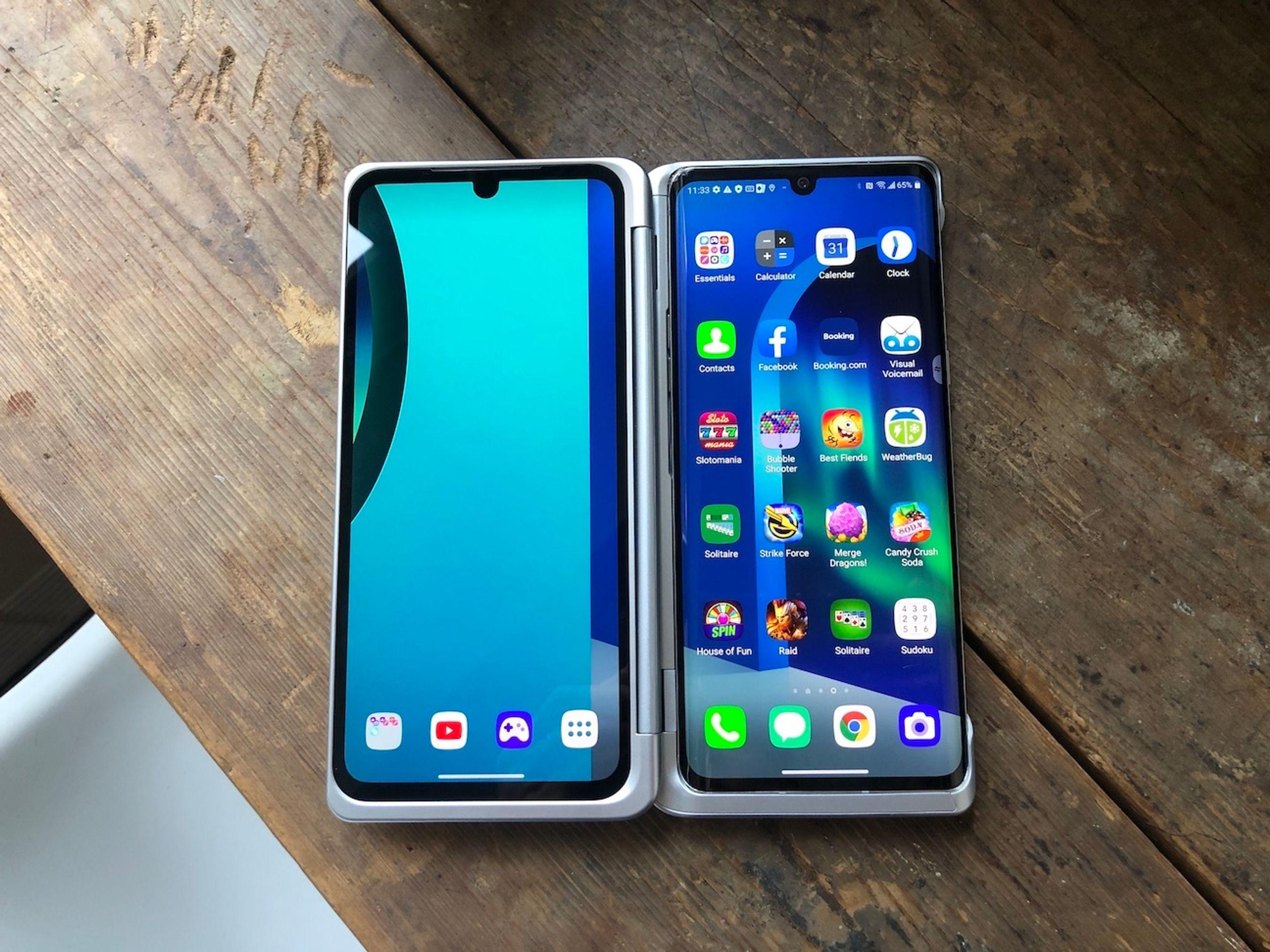 O smartphone LG V50 Dual Screen