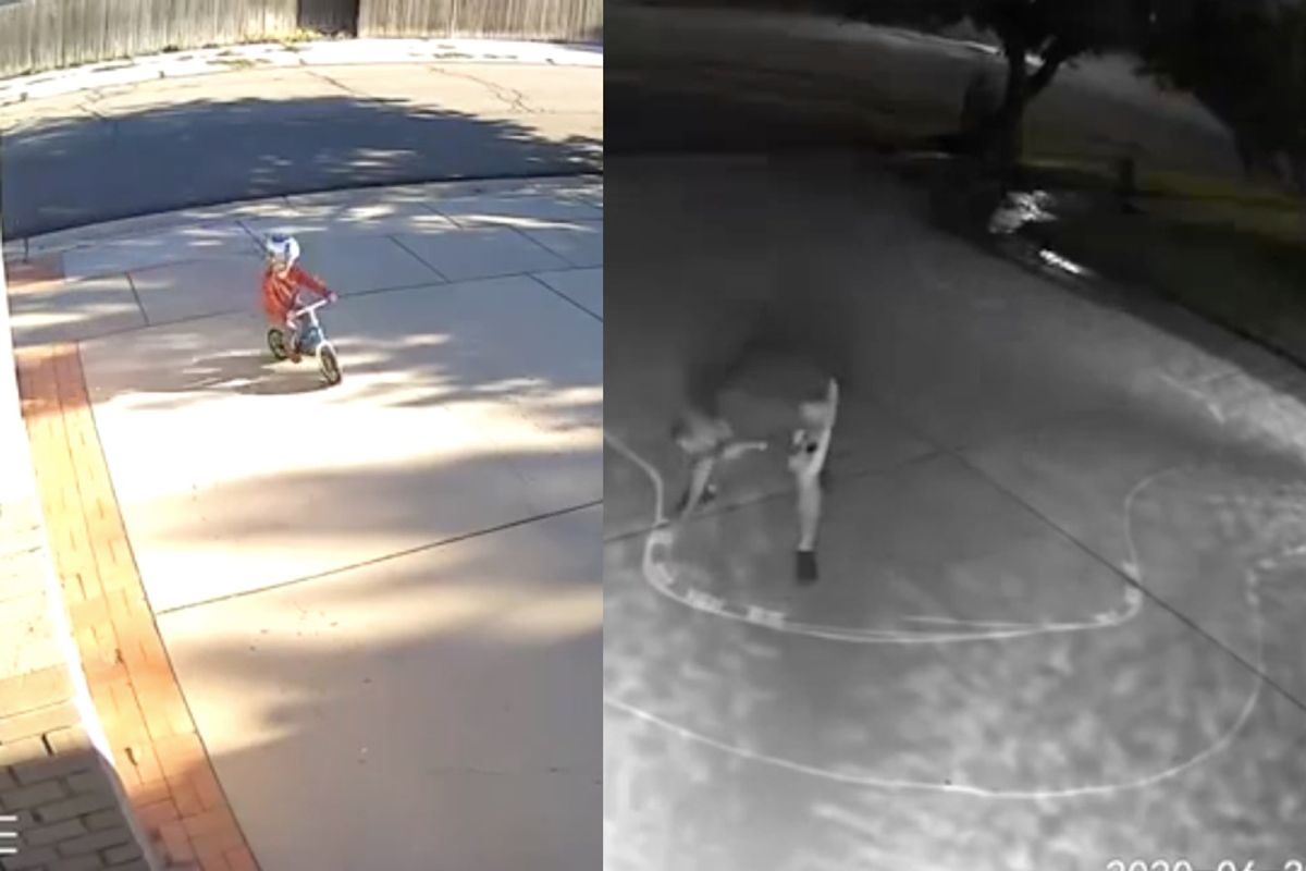 Security cameras showed a kid 'tearing it up' in his driveway each night. So he took adorable action.