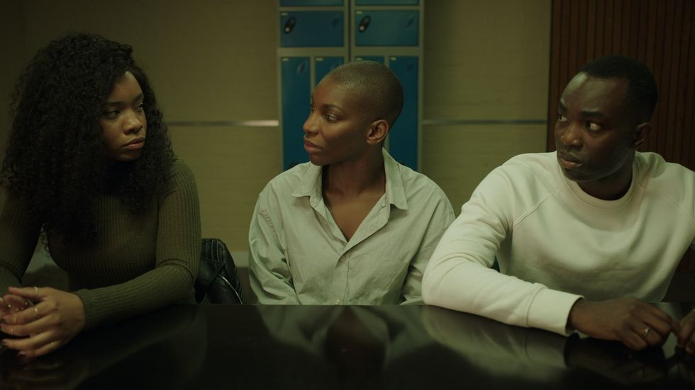 Michaela Coel and the cast of 'I May Destroy You' in a still from the HBO Max show.