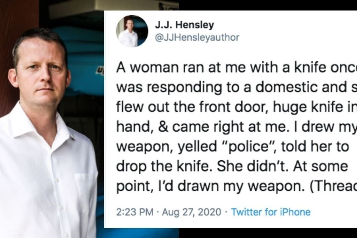 Former police officer explains why he didn't shoot a woman who ran at him with a knife