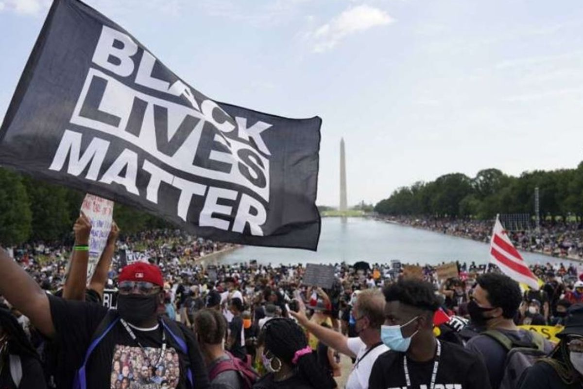 Thousands gather to honor 57th anniversary of King's March on Washington and renew calls for equality