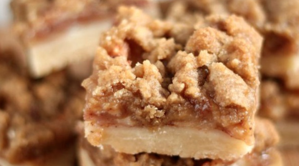 This Apple Crisp Shortbread Bar Recipe Is PERFECT For In Between Fall Campfires and Winter Incense