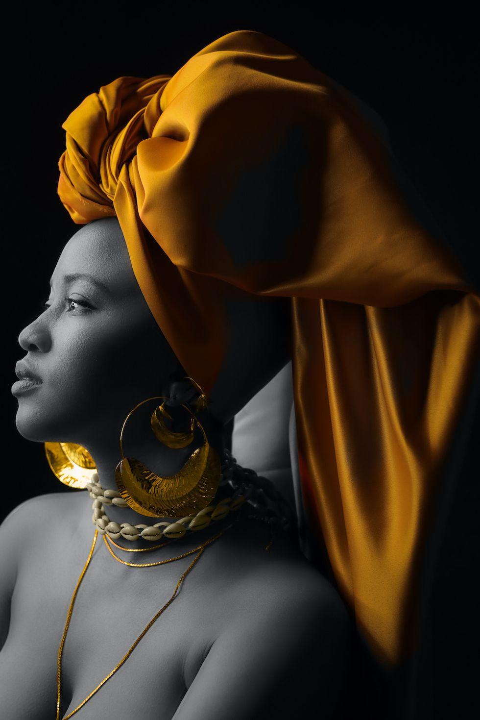 A portrait of Mpho Sebina.