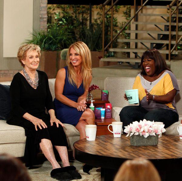 Cloris Leachman on the set of The Talk