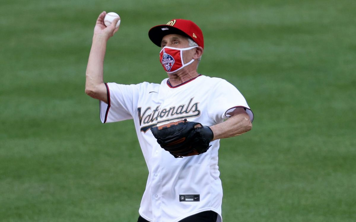 Dr. Fauci ditches mask at MLB game while not social distancing, as mask mandates spread across US