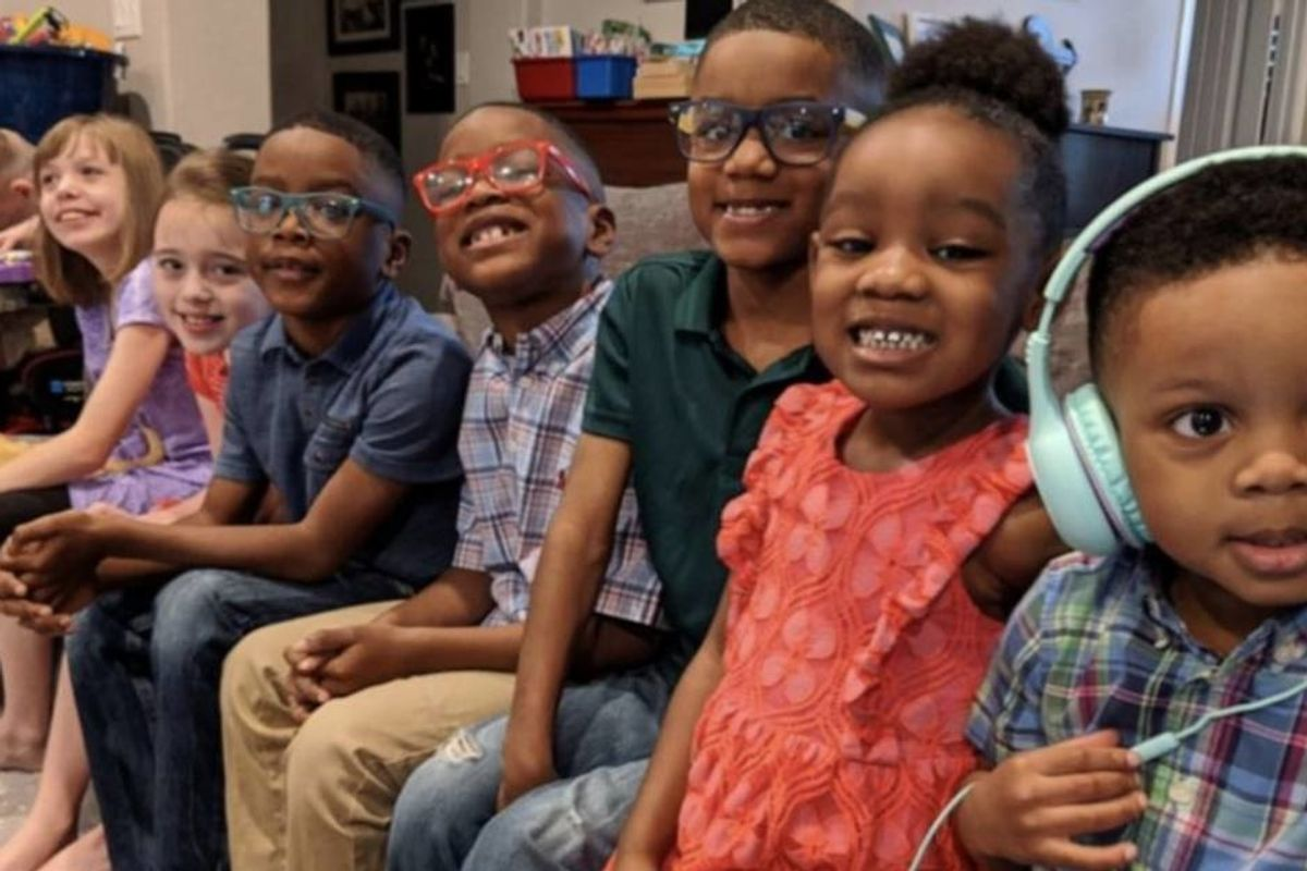 5 'amazing' siblings were living in separate foster care homes, so this family adopted them all