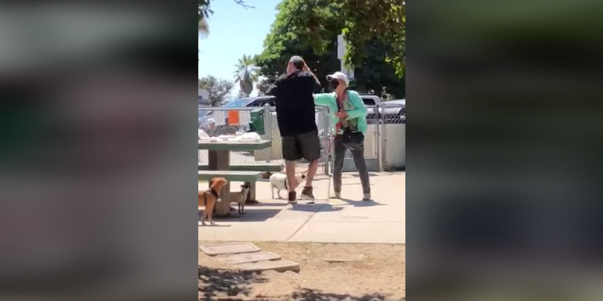Disturbing video catches the moment irate woman pepper sprays family having a picnic — allegedly because they weren't wearing masks