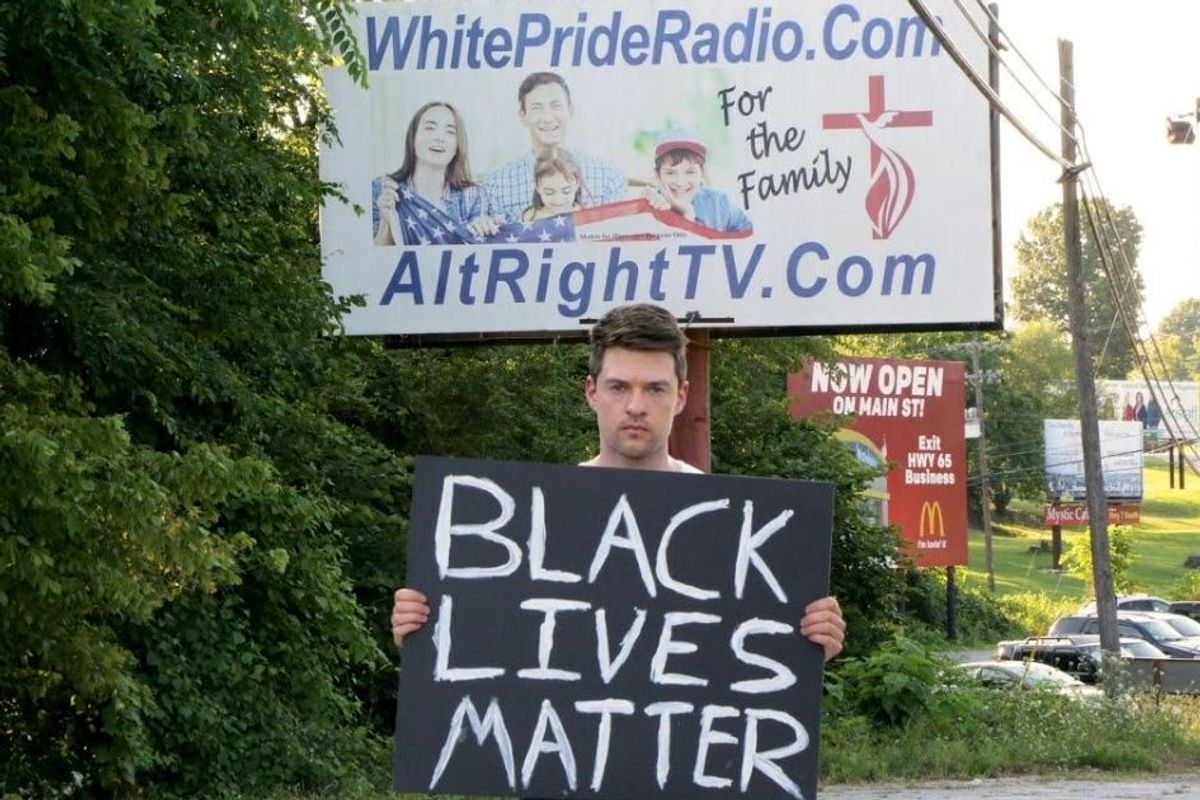 Man held up a Black Lives Matter sign in 'America's Most Racist Town' and shared how it went