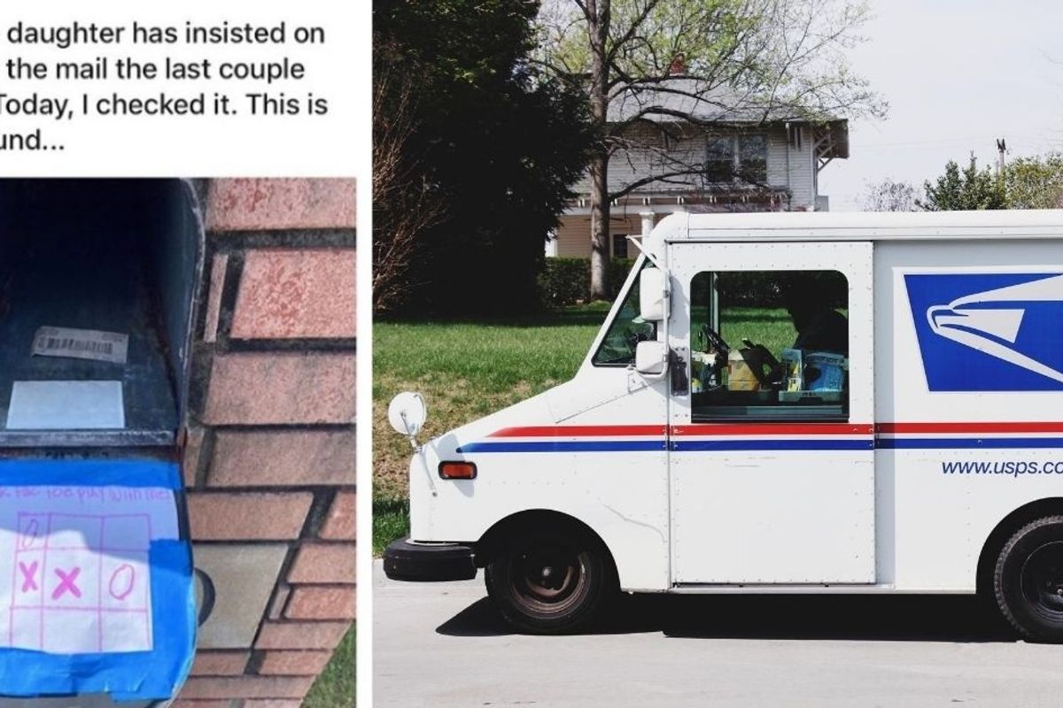 An 11-yr-old's daily tic-tac-toe game with her mail carrier is quietly a metaphor for America in 2020