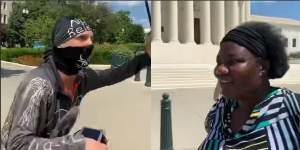 'I'm more black than you on the INSIDE': White BLM protester berates Black pro-hydroxychloroquine doctor