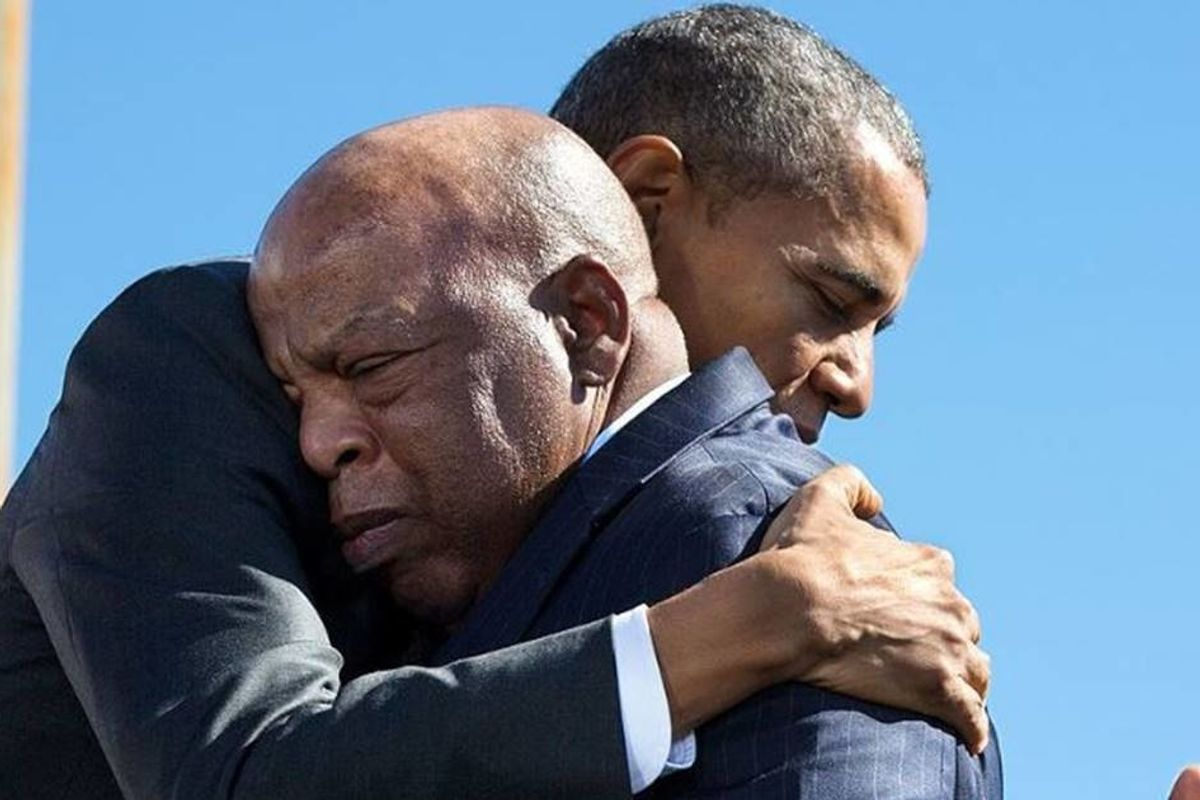 In a powerful eulogy, Barack Obama connects John Lewis' work with the issues America faces today