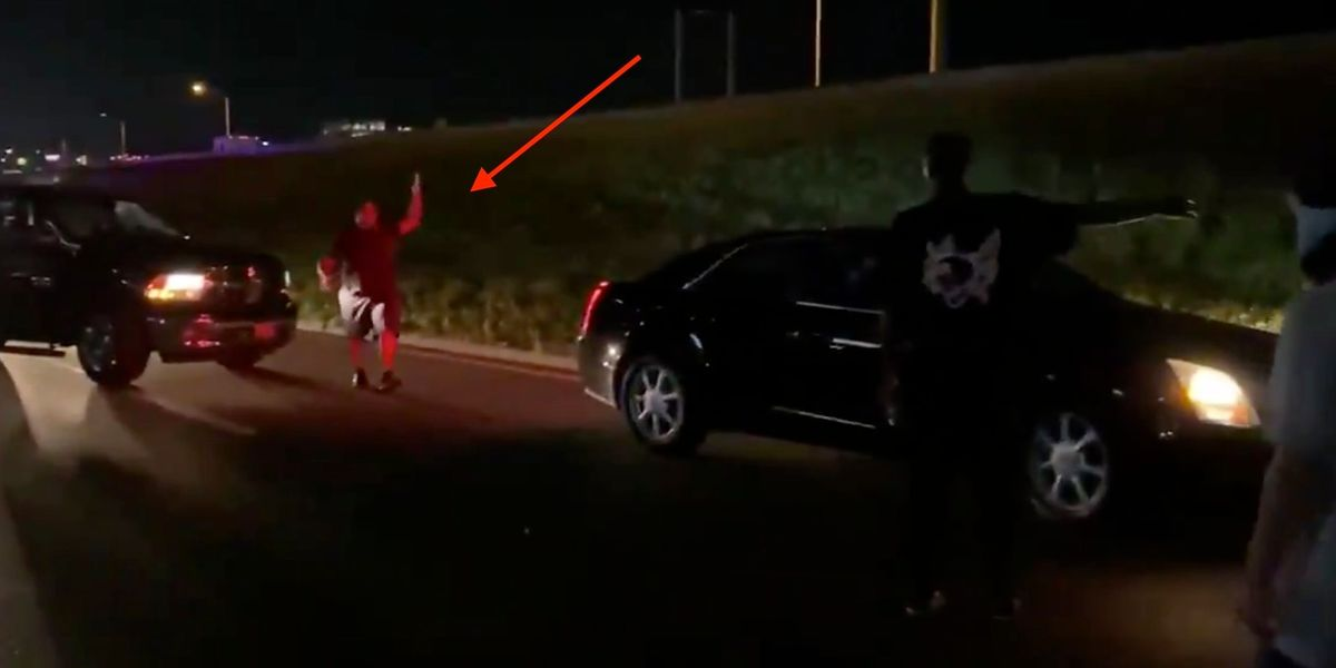 Black motorist erupts at BLM protesters blocking highway, forces them to move: 'Get the f*** out my way!'