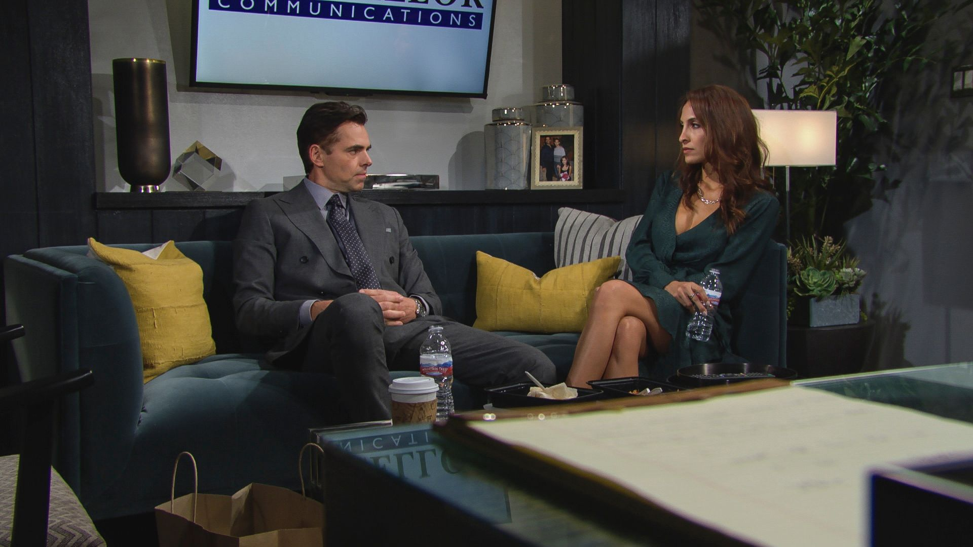 Jason Thompson as Billy and Christel Khalil as Lily sit down for a serious conversation