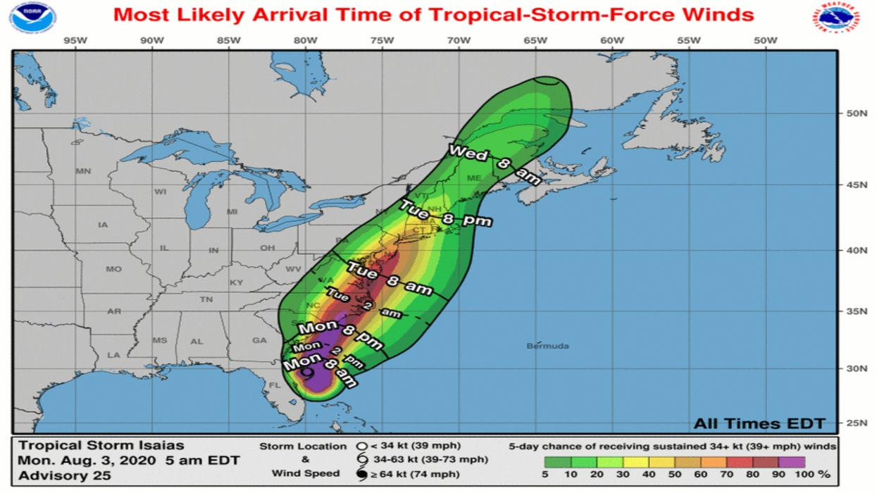 Isaias Projected to Become Hurricane as it Approaches Carolinas