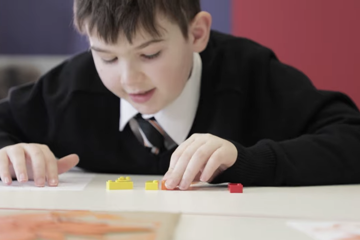 LEGO is releasing sets of braille bricks for visually impaired children