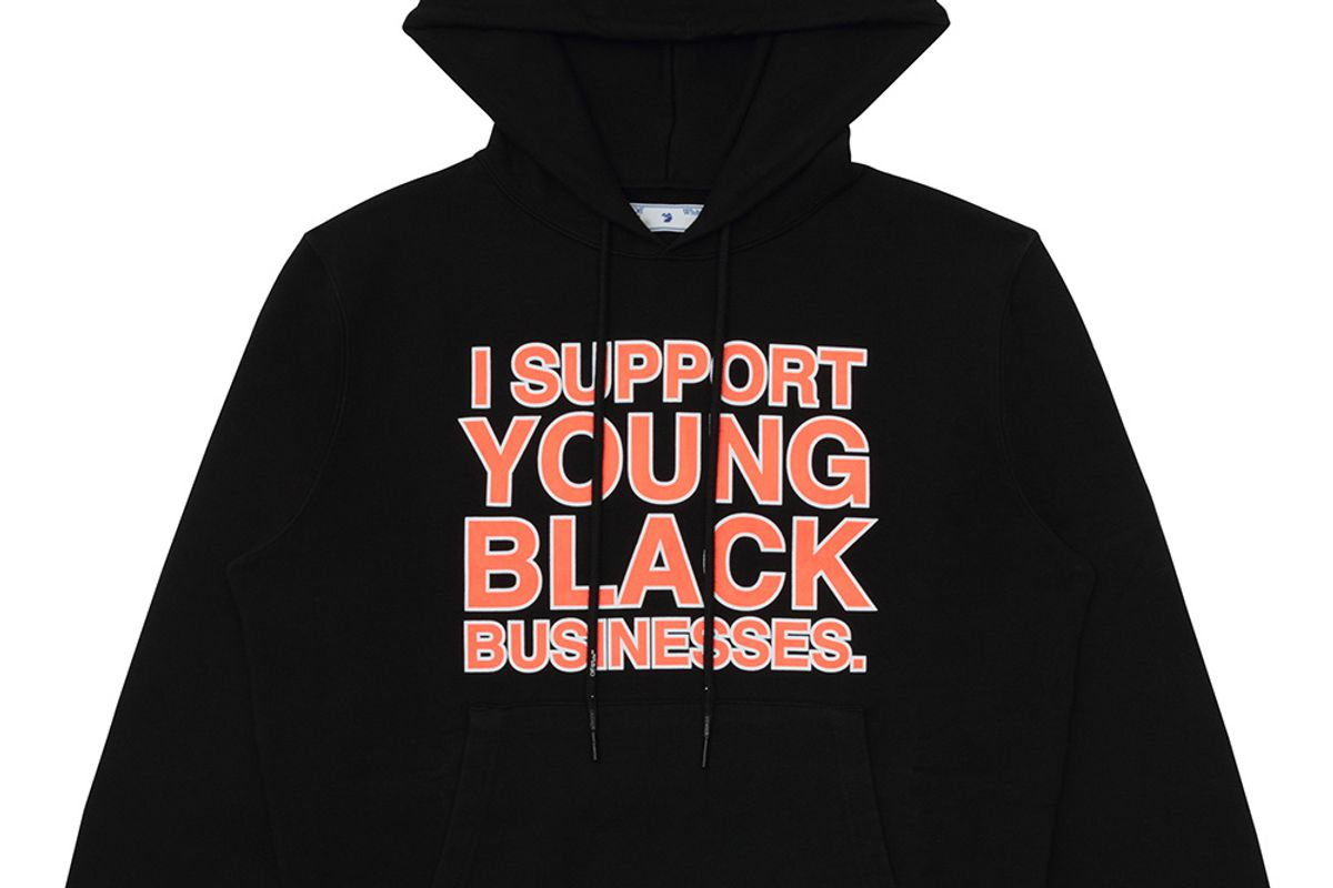 Virgil Abloh Made 'I Support Young Black Businesses' Merch