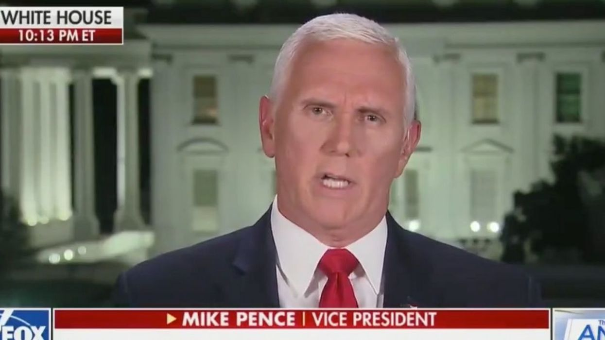 Mike Pence Dragged After Parroting Trump's Baseless Mail-In Voter Fraud Claims On Fox News
