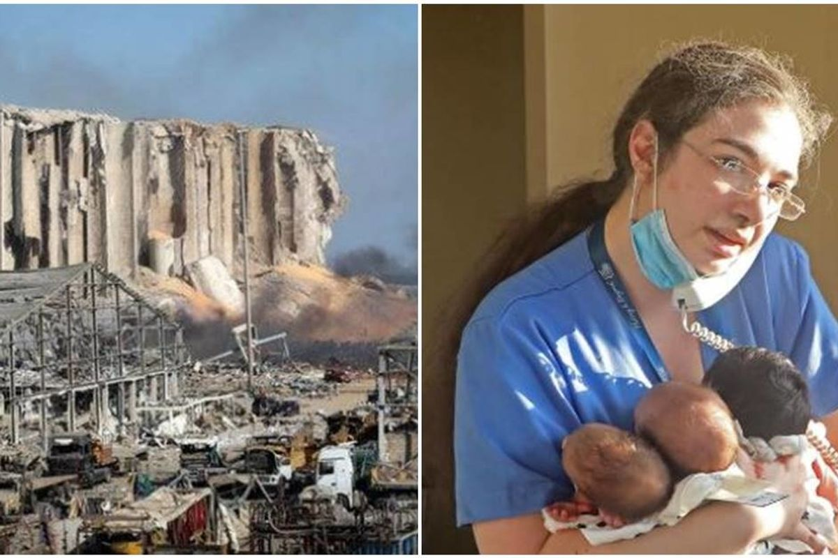 Heroic nurse woke-up from Beirut blast holding three babies whose lives she saved