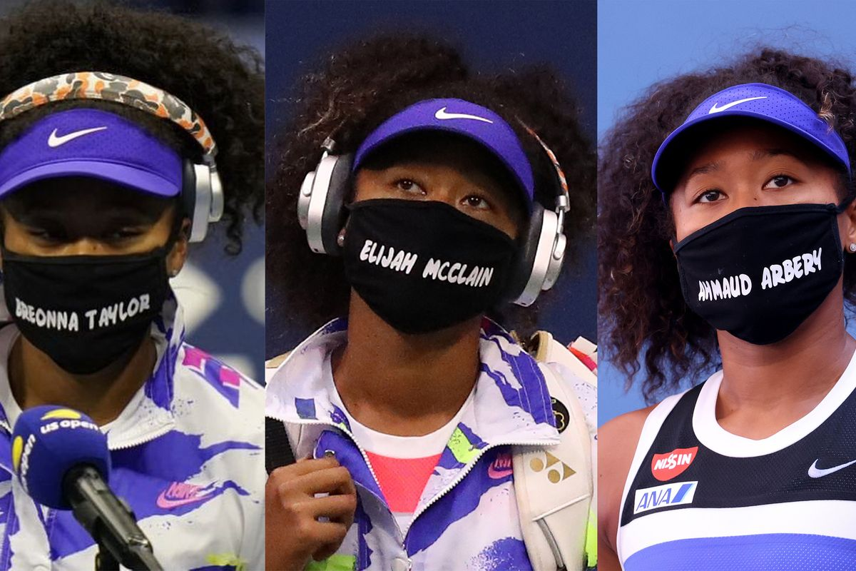 Naomi Osaka Wears Masks to Call Attention to BLM