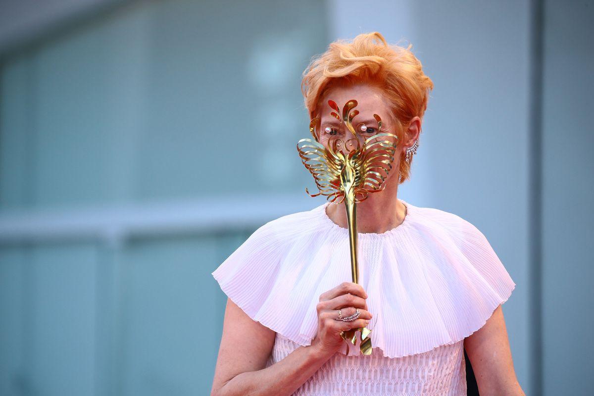 The Björk Collaborator Behind Tilda Swinton's Sculptural Venice Mask