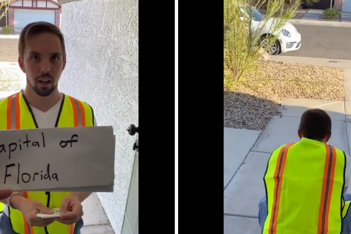 Adam Trent played a trivia game with the delivery guy that changed his life in an instant