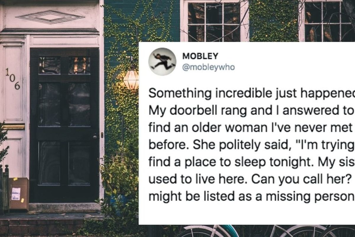 Mobley shared what happened when a disoriented woman showed up on his doorstep asking for help