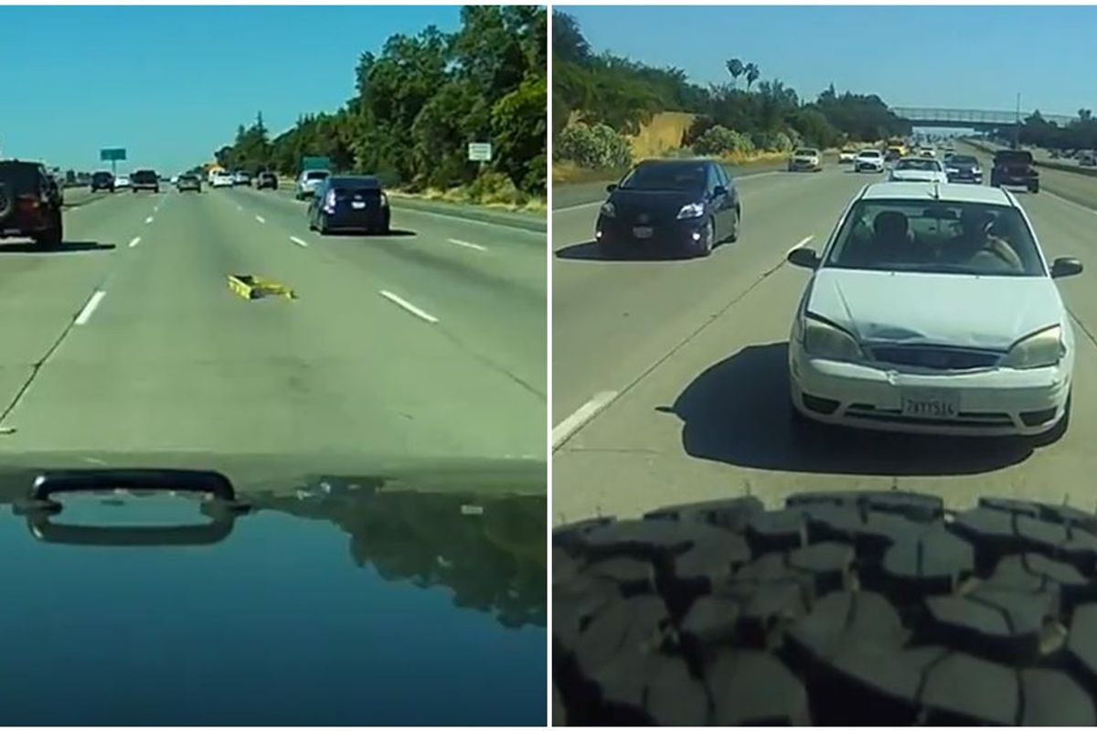 Viral dash cam video shows exactly why you should never, ever tailgate someone