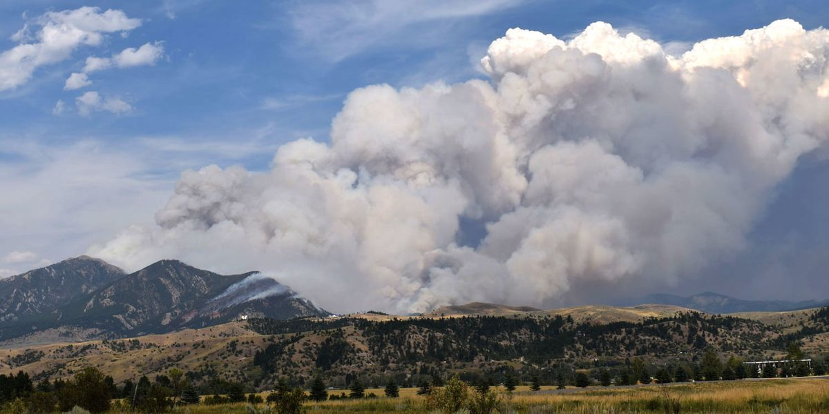Bridger Foothills Fire  on Sunday afternoon in Bozeman