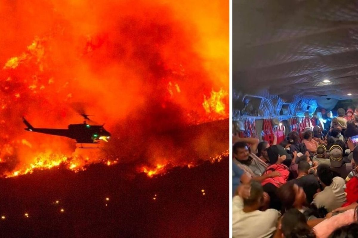National Guard helicopter pilots rescued campers trapped on all sides by deadly fires