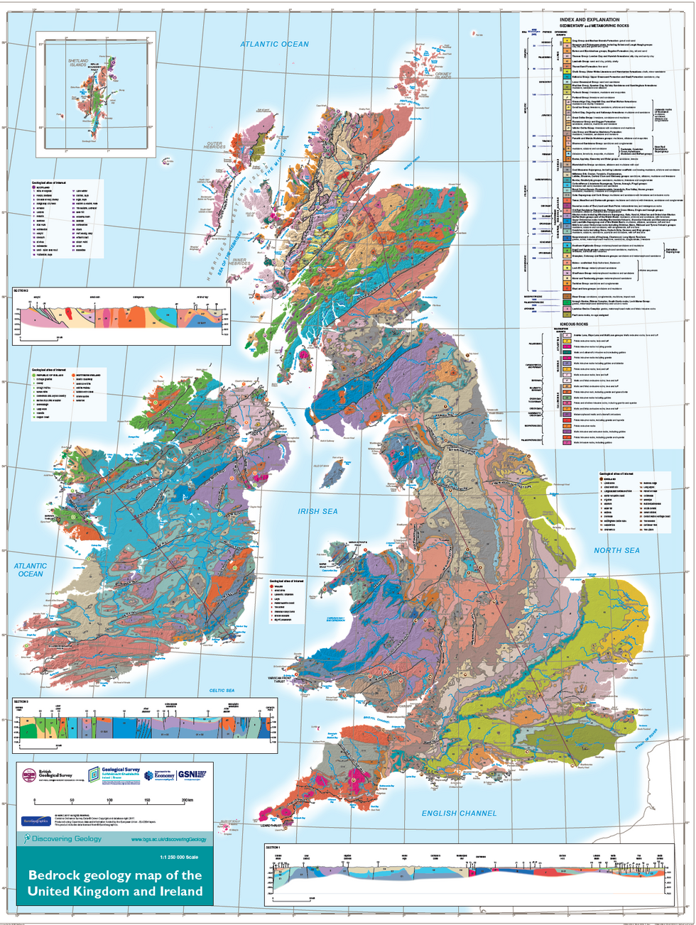 u200bBedrock Geology of the UK and Ireland